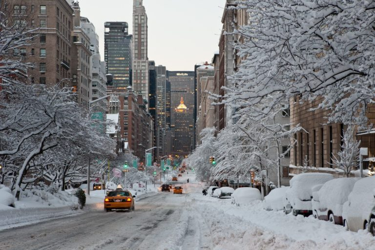 New York Becomes  A Winter Wonderland
